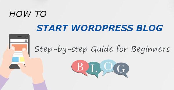 Start WordPress Blog Guide for Beginners