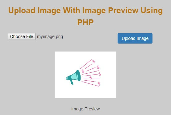Ajax Image Upload Using PHP, jQuery With Image Preview