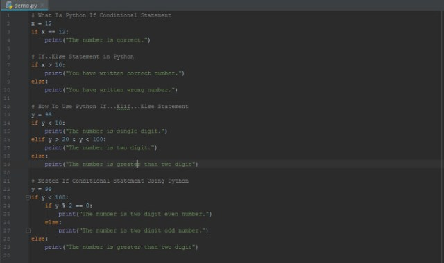 Python If Conditional Statement, If...else...If, Nested If