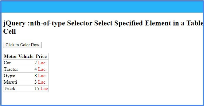 jquery nth-of-type selector