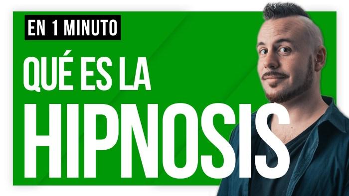 Qué es la hipnosis