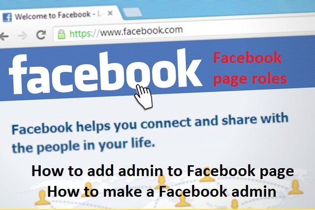 how to make an admin to facebook page