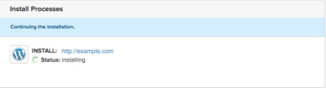 WordPress Install Progress Bar