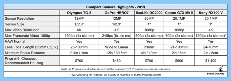 compact camera chart 2019