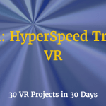 lines in webvr - hyperspeed effect in webvr
