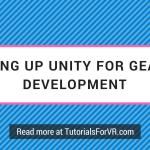 setting up unity for gear vr development