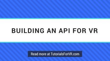building an api for vr