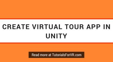 create virtual tour app in Unity