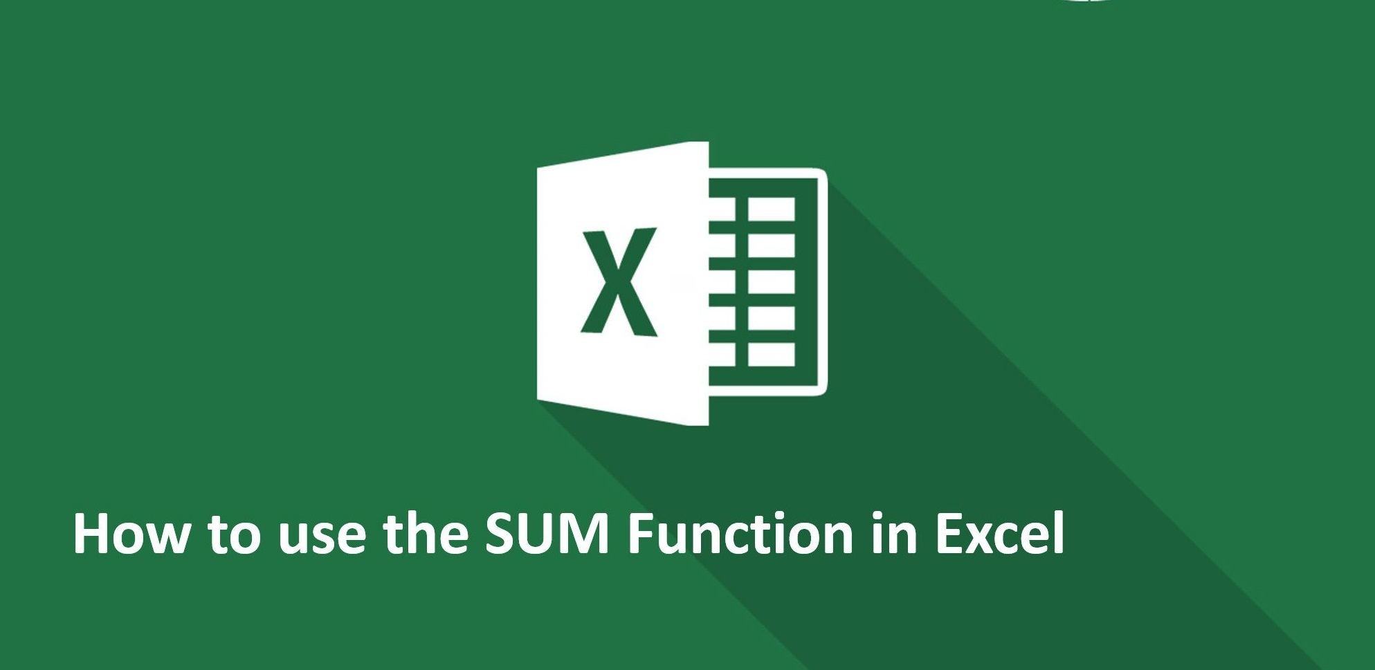 How To Use Sum Function In Microsoft Excel With Examples
