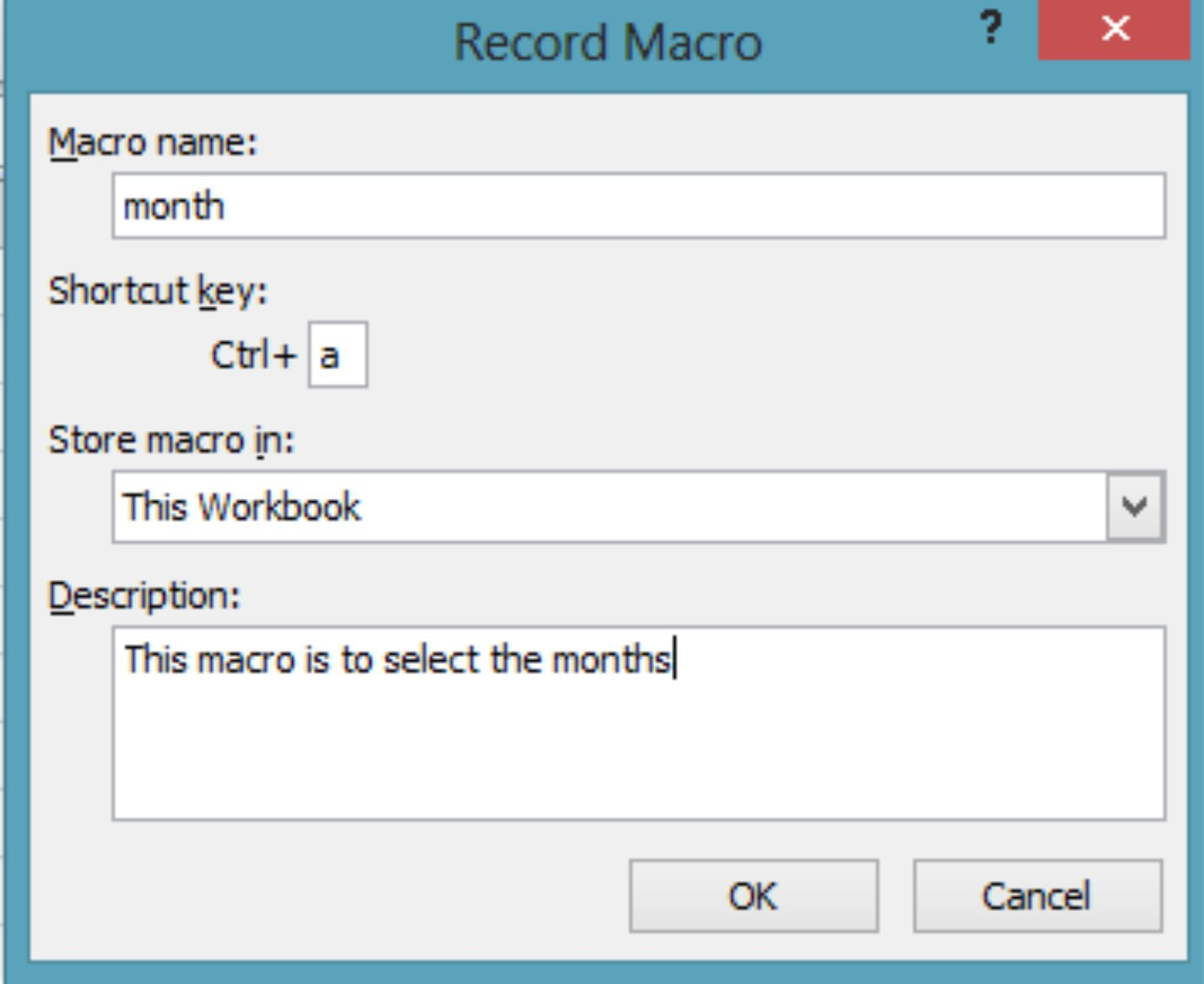 How To Record A Macro In Excel