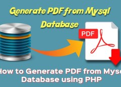 Generate PDF from mysql database