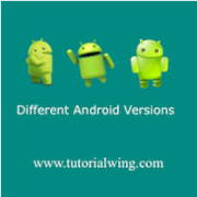 Tutorialwing Different Android version