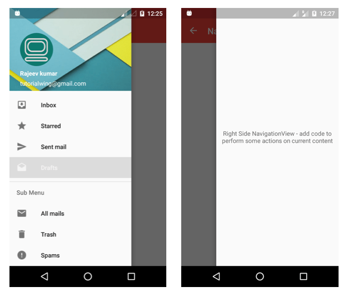 Android How To Add A Navigation Drawer And Implement Fragment