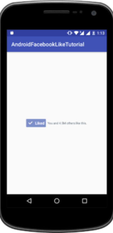 Tutorialwing - Android Facebook Like tutorial Output