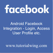 Tutorialwing Android Facebook Integration - Login image Login and profile access with latest facebook SDK