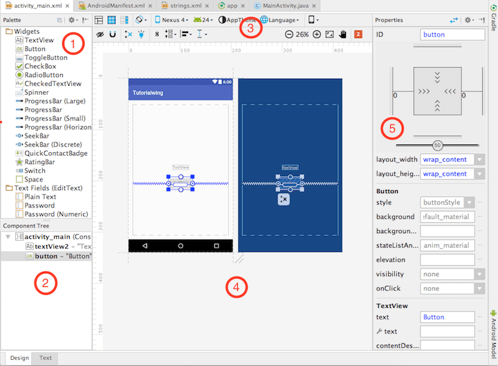 Android studio layout-editor