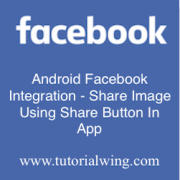 Tutorialwing - Android Facebook Share Image Logo
