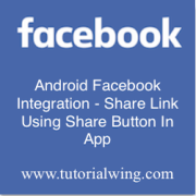 Tutorialwing - Android facebook share link logo