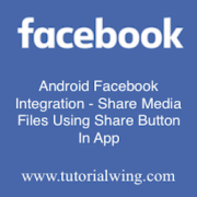 Tutorialwing - Android Share Media Logo