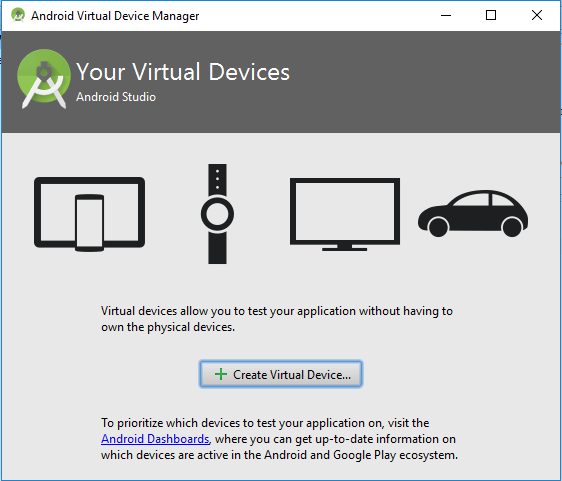 Tutorialwing - Android Studio Create Virtual Device Step1