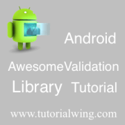 Tutorialwing android awesomevalidation library logo