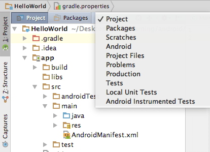 Tutorialwing - Android Project View Modes