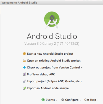 Create New Project using Android Studio 3.0