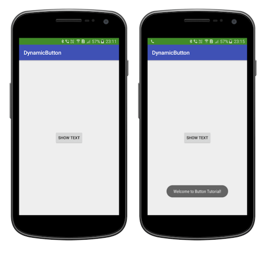 Tutorialwing Android Dynamic Button Create Button programmatically in android create button dynamically in android