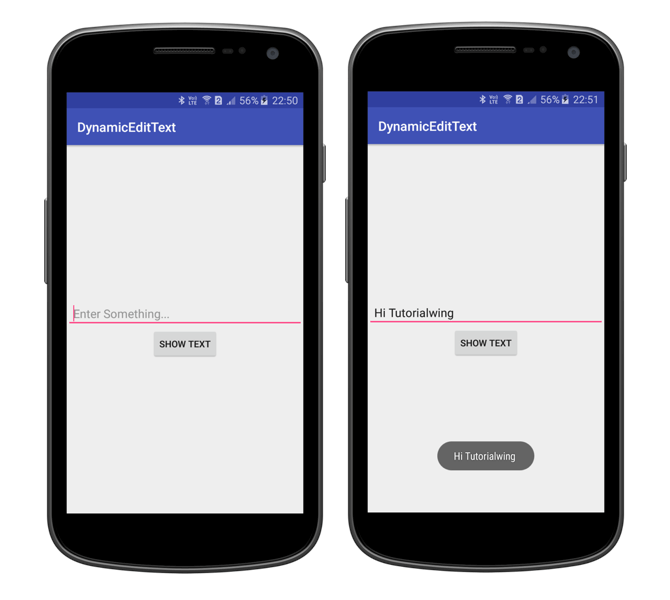 Android Dynamic EditText Tutorial Create Android EditText Programmatically Create Android EditText Dynamically