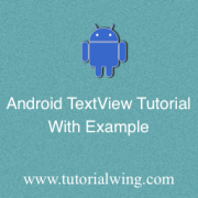 Tutorialwing Android TextView Tutorial Logo