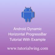 Tutorialwing Android Horizontal Progressbar Logo create android horizontal progressbar programmatically