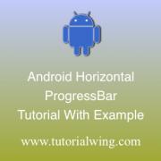 Tutorialwing Android Horizontal ProgressBar Tutorial Logo Android Horizontal ProgressBar Widget Logo