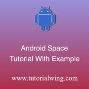 Tutorialwing android space widget tutorial logo space widget tutorial
