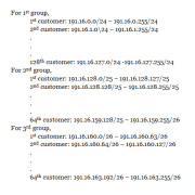 Variable Length Subnet masking Example