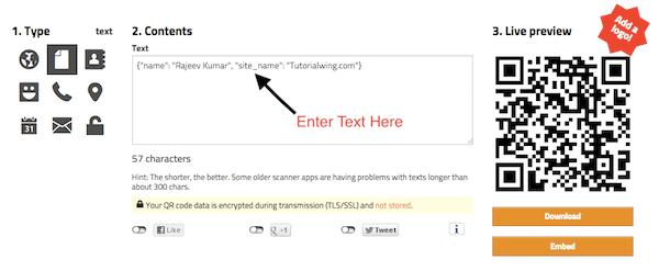 Tutorialwing Generate QR Code Kotlin
