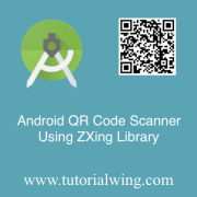 Tutorialwing Android QR Code Scanner Logo Android QR Code Scanner Using ZXing Library in Kotlin