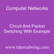 Tutorialwing Computer Networks Circuit and Packet Switching tutorial with example of Circuit and Packet Switching
