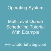 Tutorialwing MultiLevel Queue Scheduling Example