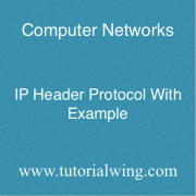 Tutorialwing computer Networks Tutorialwing IP Header Protocol Tutorial WIth Example
