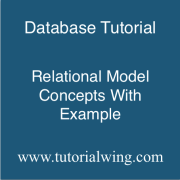 tutorialwing dbms relational model concepts