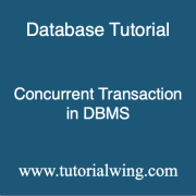 Tutorialwing dbms concurrent transaction in dbms with example