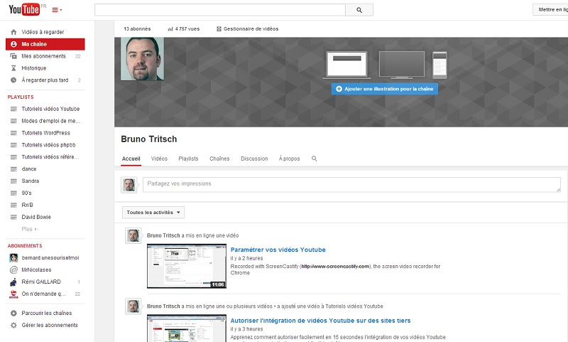 Chaîne Youtube de Bruno TRITSCH