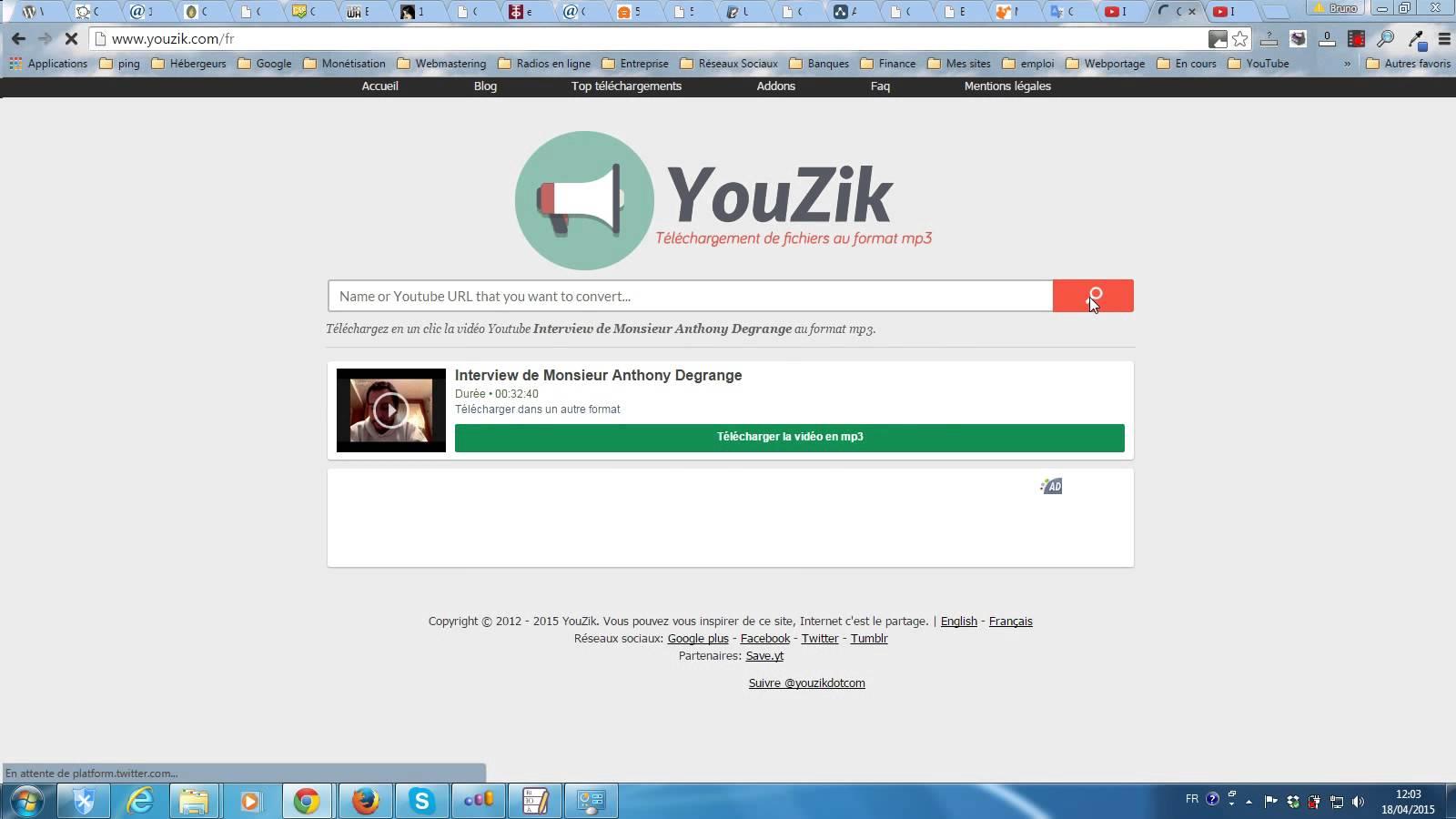 Tutoriel vidéo comment convertir une vidéo YouTube au format MP3.