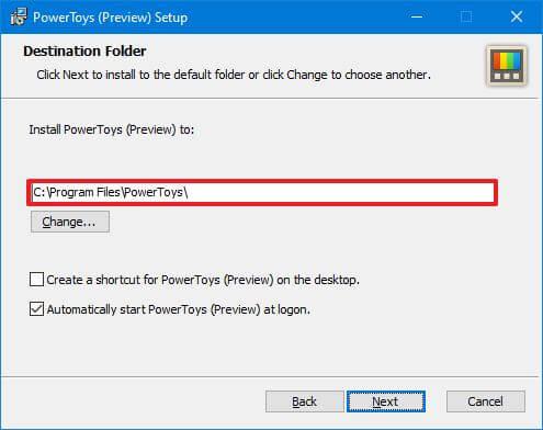 PowerToys install customization