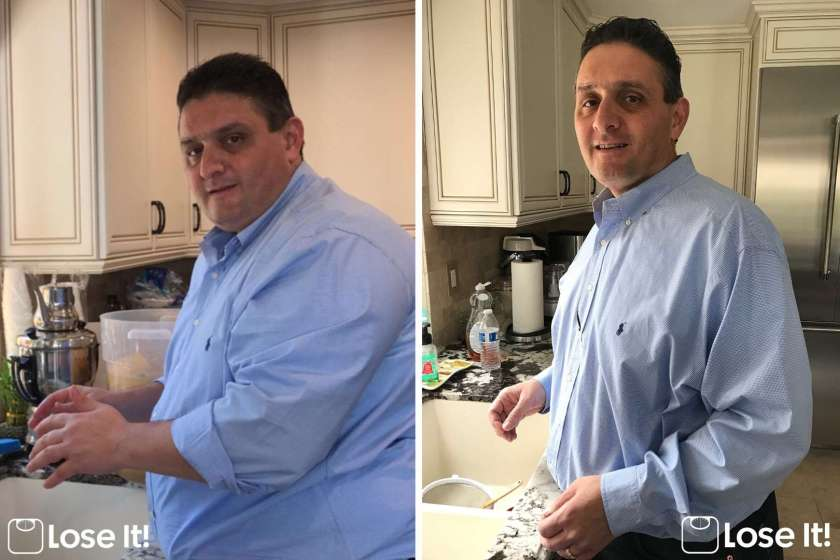 man loses weight
