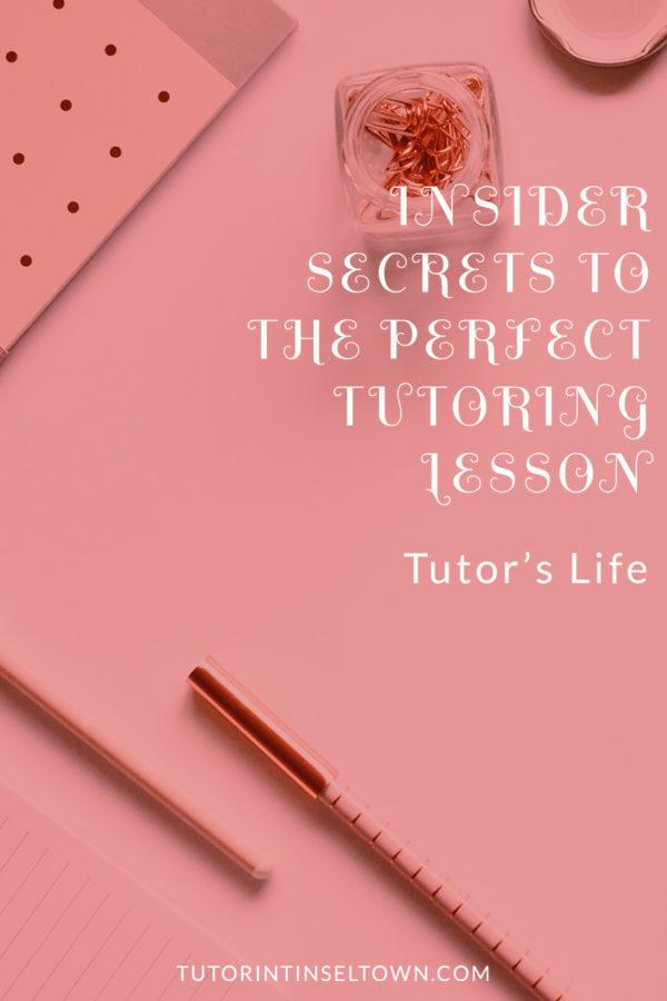 perfect tutoring lesson