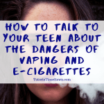 Recent studies have shown that over 11 percent of teens routinely use e-cigarettes. While vaping and e-cigarettes may seem harmless, there is increasing evidence that points to the contrary, particularly for e-cigarettes and vapes that contain nicotine. Especially considering increased marketing directed toward teen vapers, it is important to know how to talk to your teen about these issues.