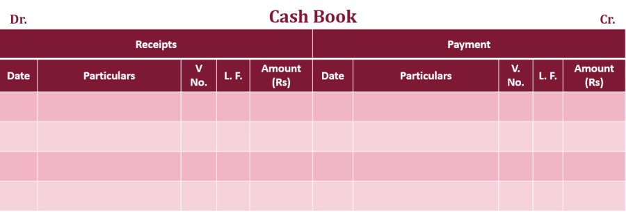 Single column Cash book