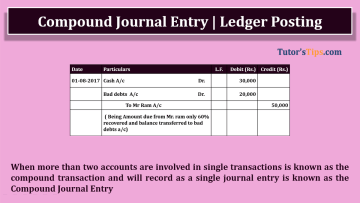 Compound journal entry 1 - Financial Accounting Tutorial