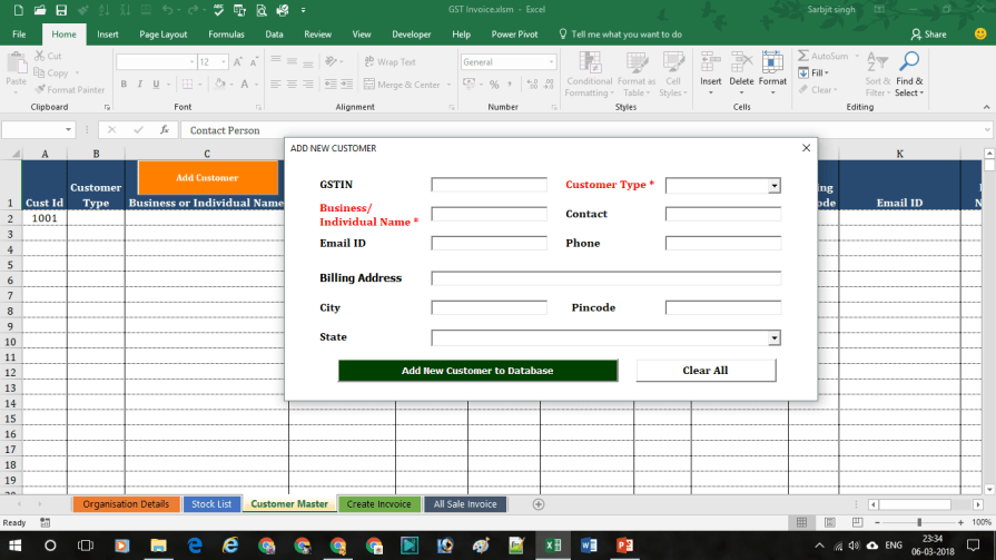 GST Invoice format 4  - GST Invoice Format | Download Free Dynamic Excel sheet